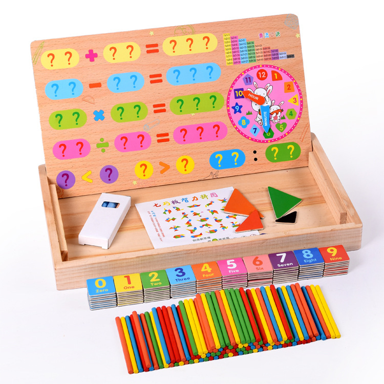 Magnetic Multi-functional Shu Zi Bang Computing Educational Toy With Jigsaw Puzzle Wooden Children Early Childhood Educational T