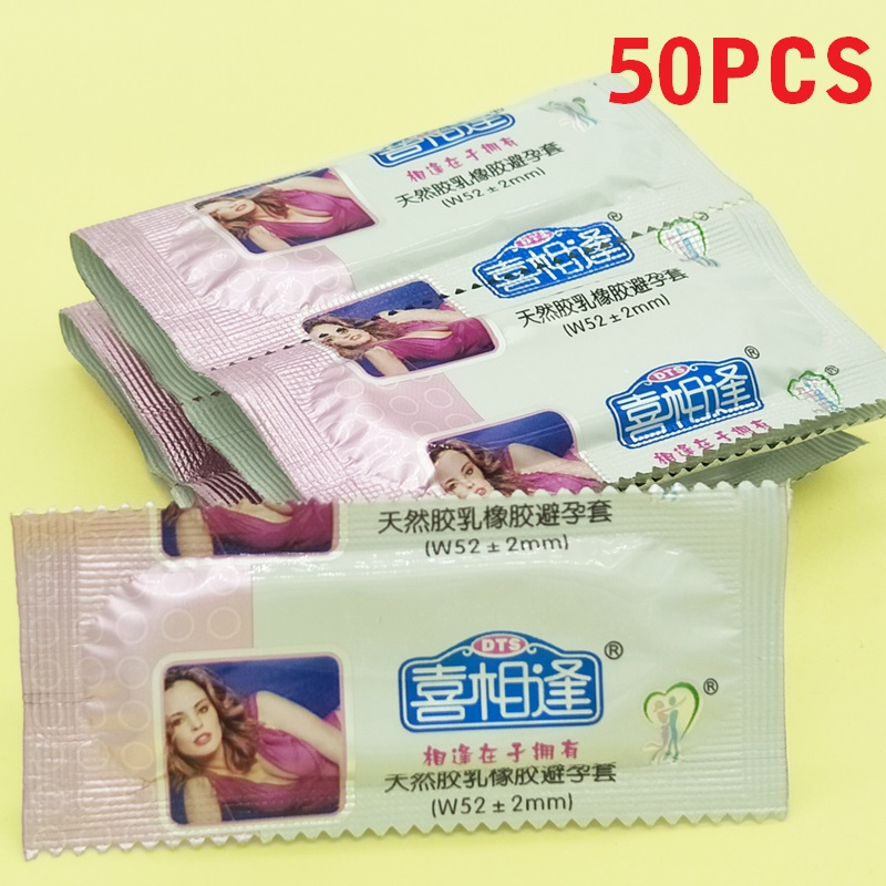50 pcs/lot Fruit Flavor Condoms For Men Penis Thin Condom With Large Lubricant Adult Sex Products Safe Contraception Sex Toys(China)