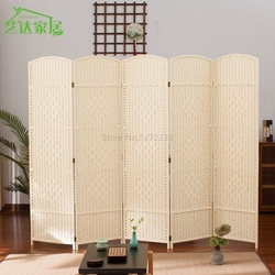 Straw screens cut off fashion simple living room porch generation bedroom folding screen Hotel simple
