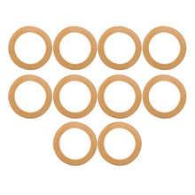 10 pièces en caoutchouc anneau de Piston isolé pompe accessoires pour 550W/1100W/1500W sans huile silencieux compresseur d'air