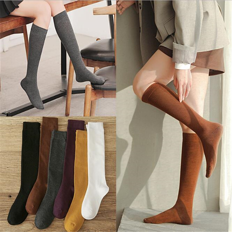 GREENYU Brand New Model Cotton Women Socks Stockings Warm Thigh High Over The Knee Socks Long Cotton Sweat-absorbing Stockings