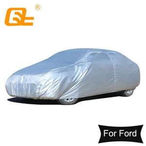 Image 1 - 170T Waterproof Full Car Covers Outdoor sun uv protection dust rain snow protective for Ford universal focus fiesta taurus