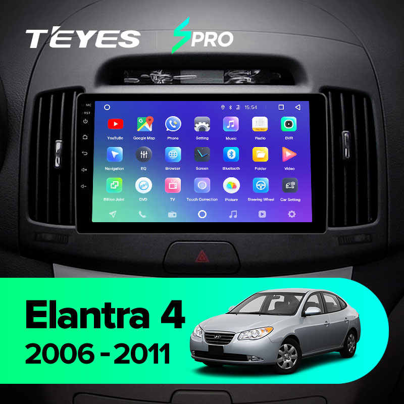 TEYES SPROสำหรับHyundai Elantra 4 HD 2006 - 2012 รถวิทยุเครื่องเล่นวิดีโอมัลติมีเดียระบบนำทางGPS Android 8.1 ไม่มี 2din 2 Din Dvd