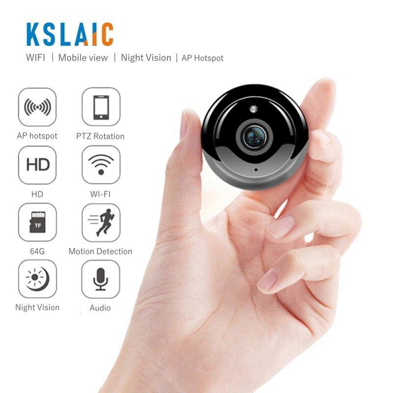 KSLAIC Mini Wifi IP Camera 2.0MP Wireless Small CCTV IR Night Vision Motion Detection Home Security Surveillance Micro Ip Camera