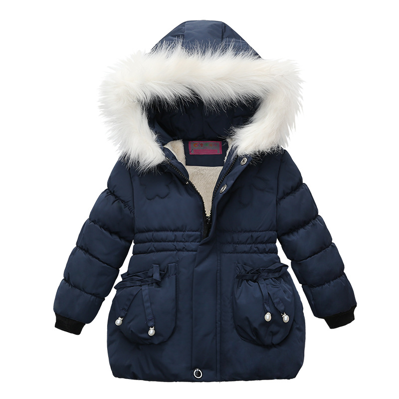 2021 Winter Girls Jackets Baby Girl Hooded Outerwear Autumn Children Clothing Warm Jacket Baby Kids Coats Clothes Girls Jacket 2