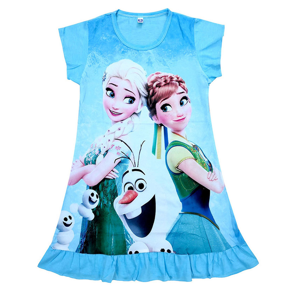 Girls Dress Elsa Anna Olaf Sofia Princess Christmas Dress Summer Baby Children Kids Dresses For Girls Clothes Vestidos Infantil
