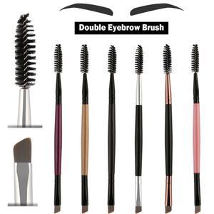 2020 New Eyebrow Brush Beauty Makeup Double-End Eyebrow Brush Foe Eyelash Mascara Black Gold Pink Silver Makeup Cosmetics Brush(China)