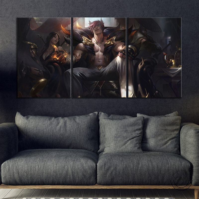 League Of Legends Sett Poster Modern Home Wall Decor Canvas Picture Art HD Print Painting On Canvas Artwork 4