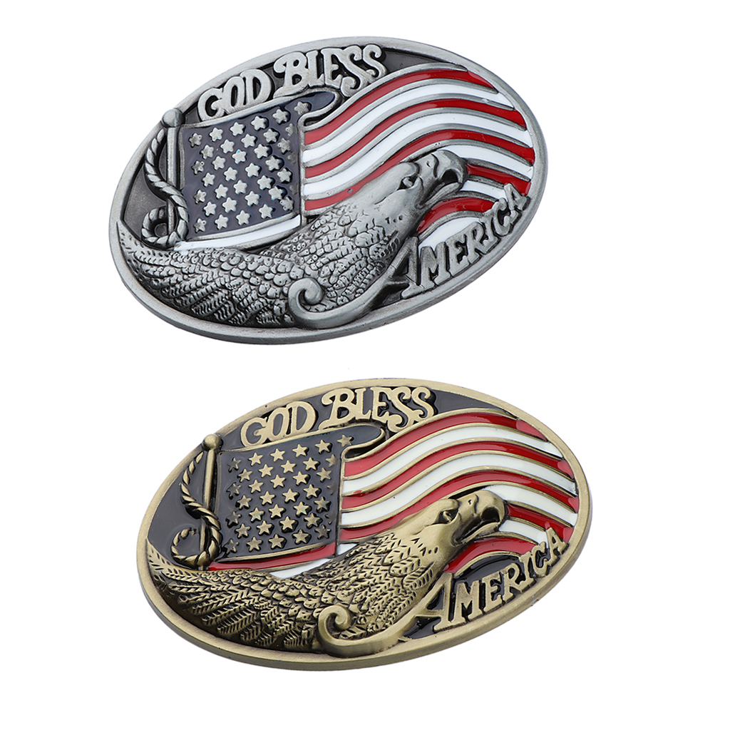 Western America Flag Belt Buckle Cowboy Cowgirl Rodeo Zinc Alloy Eagle Belt Buckle Jeans Accessory