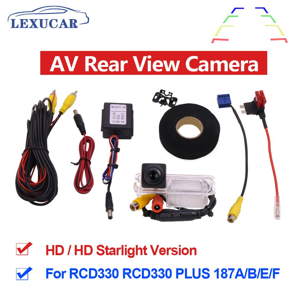 MIB AV Rear View Camera HD CCD Wide Angle Rearview Parking Car Reverse RCD330 Plus For VW TIGUAN Passat B6 B7 Golf 5 67 JETTA