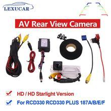MIB AV Rear View Camera HD CCD Wide Angle Rearview Parking Car Reverse RCD330 Plus For VW TIGUAN Passat B6 B7 Golf 5 67 JETTA