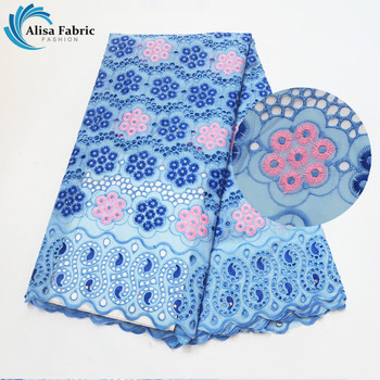 Alisa New Arrival Soft Material Swiss Voile Lace in Switzerland High Quality 5 yards/pcs Cut Hole Cotton Lace For Party Dress