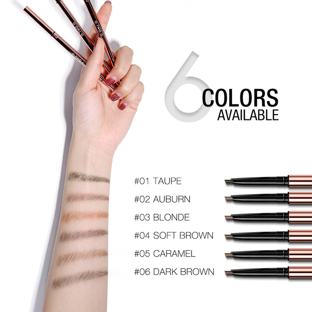 O.TWO.O Ultra Fine Triangle Eyebrow Pencil Precise Brow Definer Long Lasting Waterproof Blonde Brown Eye Brow Makeup 6 Colors 1