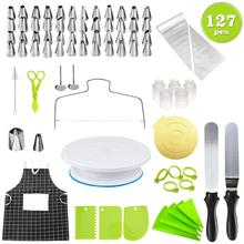 127 Pcs Bakery Tools Stainless Steel Whip Cream Buttercream Icing Piping Nozzles DIY Caking Making Kitchen Tools Accessories bascolin brand nozzles dlla146p139 0433171127 0 433 171 127
