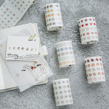 Basic Dot Washi Tape Japanese Paper Diy Planner Masking Tape Adhesive Tapes Stickers Decorative Stationery Tapes 60mm X 3 M