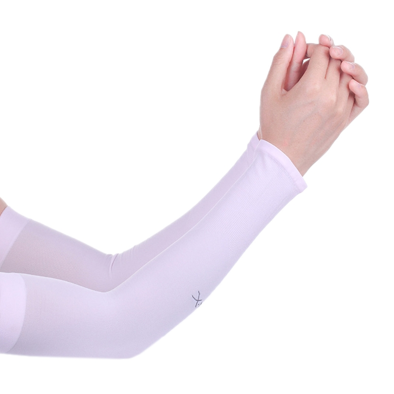 Cooling Athletic Sport Skins Arm Sleeves Gloves Sun Protection UV Cover Cycling LX9E