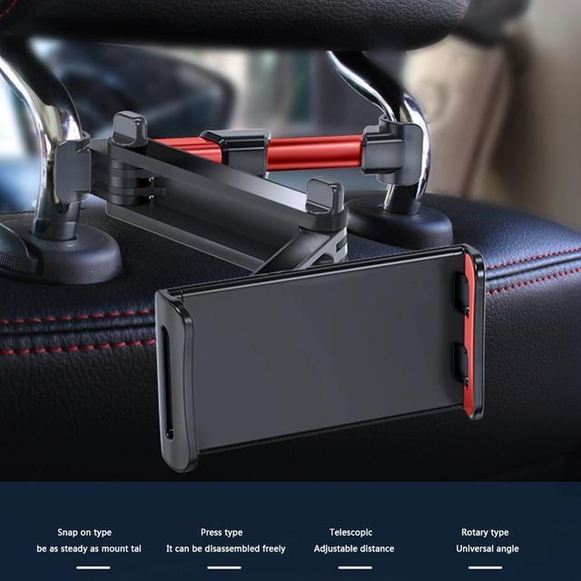 7 14 Inch Adjustable Car Tablet Stand Holder 360 Rotation Car Rear Pillow Holder Auto Tablet Car Stand Seat Back Bracket