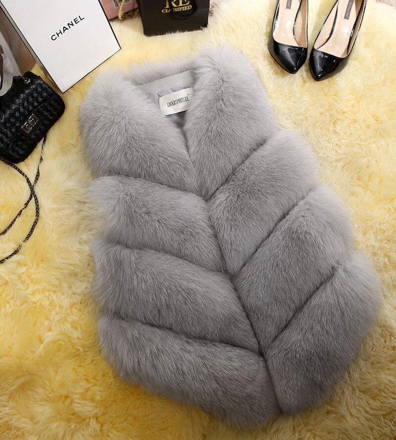 New Fashion Faux Fur Coat Winter Coat Women Waist Coat Fur Gilet Women's Fur Jacket Fur Vest For Ladies 23