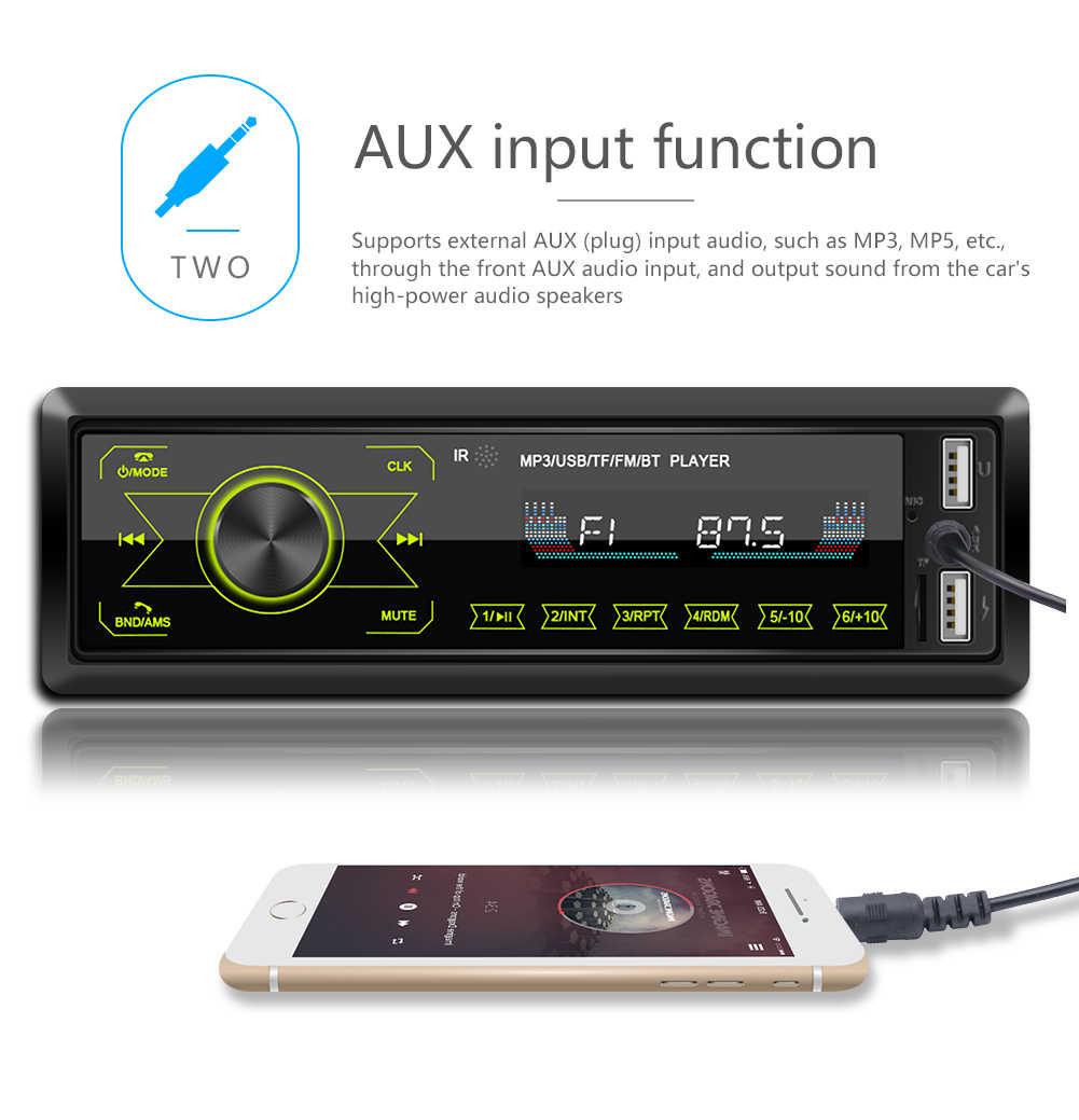 Autoradio FM Bluetooth Freisprecheinrich MP3 USB/SD MMC ポート 1DIN 車プレーヤーラジオ Can タッチボタン