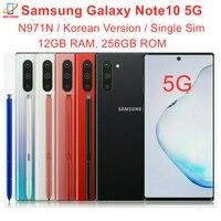 "Samsung Galaxy Note10 Note 10 5G N971N 6.3"" 256GB ROM 12GB RAM Octa Core NFC Exynos 9825 Triple Camera Original Mobile Phone 1"