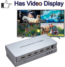 HDMI 4X1 Quad Multiviewer HDMI Switcher 4 In 1 Out 1080PภาพSeamless Switch SplitterสำหรับเกมDVD HDTV Multi Viewer(China)