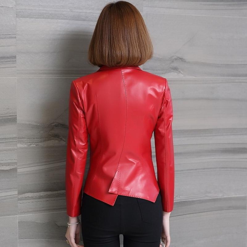 Genuine Jacket Women Real Sheepskin Leather Bomber Jackets Spring Autumn Plus Size Motocycle Coat 1842 MF129