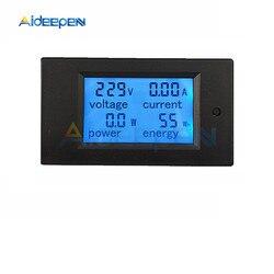 AC 220V 80V~260V 20A Single Phase Digital Ampermeter Power Energy Voltmeter Ammeter Volt Watt Kwh Factor Meter