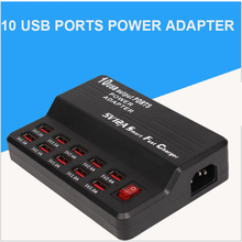 10 USB Power Fast Charge Station Multi Port Charger For iPhone X 8 7 6 Samsung Huawei AC Adapter Charger Socket