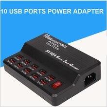 10 USB الطاقة شحن سريع محطة متعددة ميناء شاحن آيفون X 8 7 6 سامسونج هواوي محول التيار AC شاحن المقبس