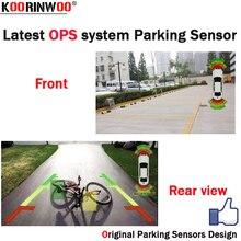 Koorinwoo новая система OPS парктроники автомобильные Датчики парковки 8 датчик сигнализации видео система может подключаться камера заднего вида Автомобильный DVD монитор