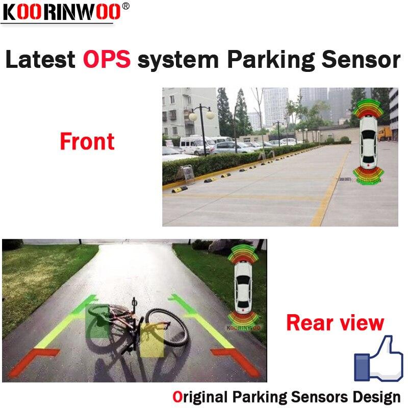 Koorinwoo novo sistema de operações parktronics sensores de estacionamento do carro 8 alarme sonda sistema de vídeo pode conectar câmera retrovisor do carro dvd monitor
