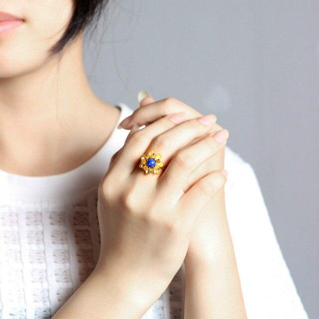 Купить женские открытые кольца в виде цветка лотоса серебро 925 пробы картинки