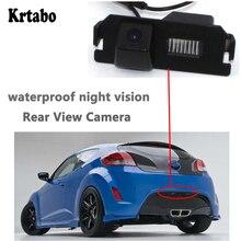 Krtabo камера заднего вида ночного видения для Hyundai Veloster 2011~ Водонепроницаемая Full HdBack Up обратная парковочная камера