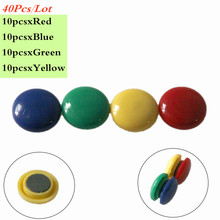 40 шт./лот, цветные круговые пластиковые магниты на холодильник, белая доска, стикеры, магниты на холодильник, многофункциональные магниты для школьников, подарки для детей