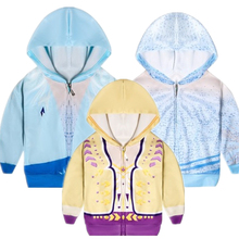 2020 New Cosplay European and American fashion sports casual jacket Elsa Anna Princess zipper jacket + bag bag anna luchini bag