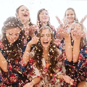Image 3 - 1 ชุด PUSH POP สีชมพู Confetti Poppers สำหรับงานแต่งงานวันเกิดดอกไม้กระดาษรอบ Confetti DOTS PARTY ตกแต่ง