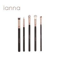 Набор кистей для макияжа ianna, небольшие косметические кисточки для теней, подводки, глаз, 5 шт.