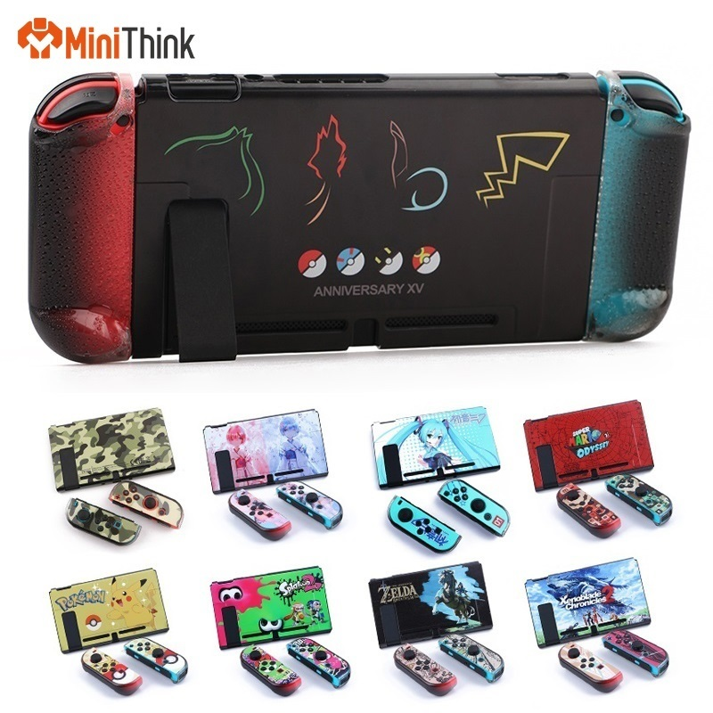 For NS Nintend Switch Protector Console Cover Plate Case Shell Set Dockable Direct Dock Joy-con Xenoblade 2/Zeldar/Splatoon2