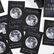 Journamm 100 шт. Moon планета Примечания астронавт Memo ретро карты крафт-бумаги карты для деко канцелярские ломо карты канцелярские блокнот заметки