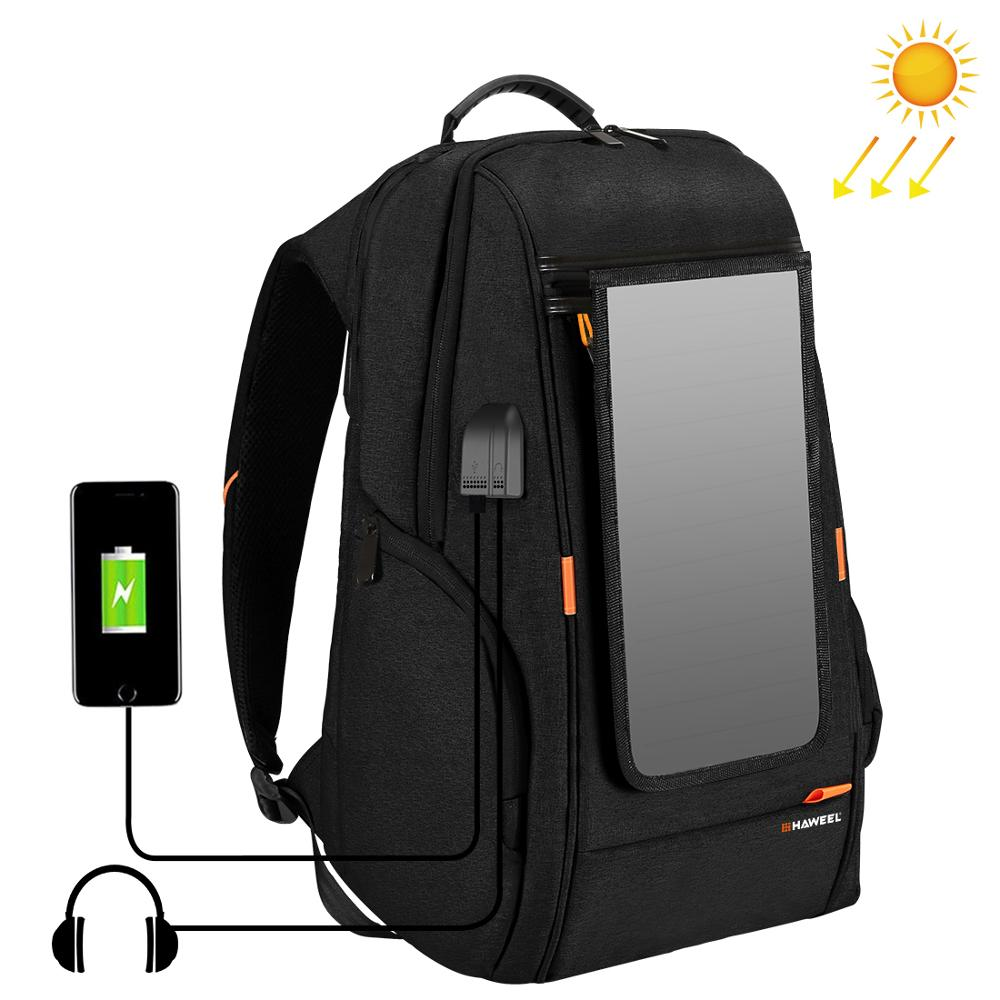 PULUZ Outdoor Multi function Solar Panel Backpack Comfortable Casual Camera Backpack Laptop Bag for 3C /Dslr Accessories|Camera/Video Bags| |  - title=