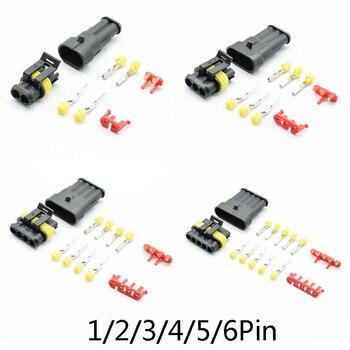 2/5 ensembles 1/2/3/4/5/6 broches 18-15 AWG Way AMP Super joint étanche connecteur de fil électrique prise pour Kit de connecteur de voiture 2pin 3pin