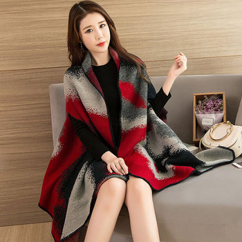 2019 Scarves Women Scarf Pashmina Cashmere Ponchos And Capes Top Quality Plaid For Ladies Pashmina For Dress Luxury Brand Scarfs chic skulls and stripes pattern voile pashmina for women