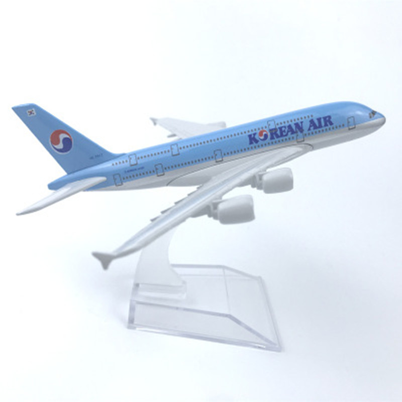 16cm <font><b>Model</b></font> Plane Airplane <font><b>Model</b></font> Korean Air <font><b>Airbus</b></font> <font><b>a380</b></font> Aircraft <font><b>Model</b></font> Diecast Metal Airplanes 1:400 Plane Toy Gift image