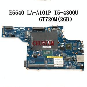 FOR DELL latitude E5540 laptop motherboard VAW50 LA-A101P I5-4300U GT720M 2GB CN-0F6J4M F6J4M 100% tested(China)