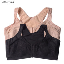 Front Gesp Womens Lace Bras Sexy Un Draad Brasserie Plus Size Bh Lingerie Grote Borsten Bralette Bh Tops