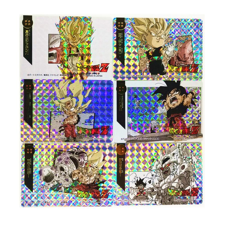 18pcs/set Super Saiyan Dragon Ball Z Q No.4 Heroes Battle Card Ultra Instinct Goku Vegeta Game Collection Cards