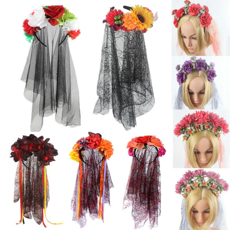 Black Widow Hen Night Bride Veil steam punk Halloween Gothic fancy Dress Costume
