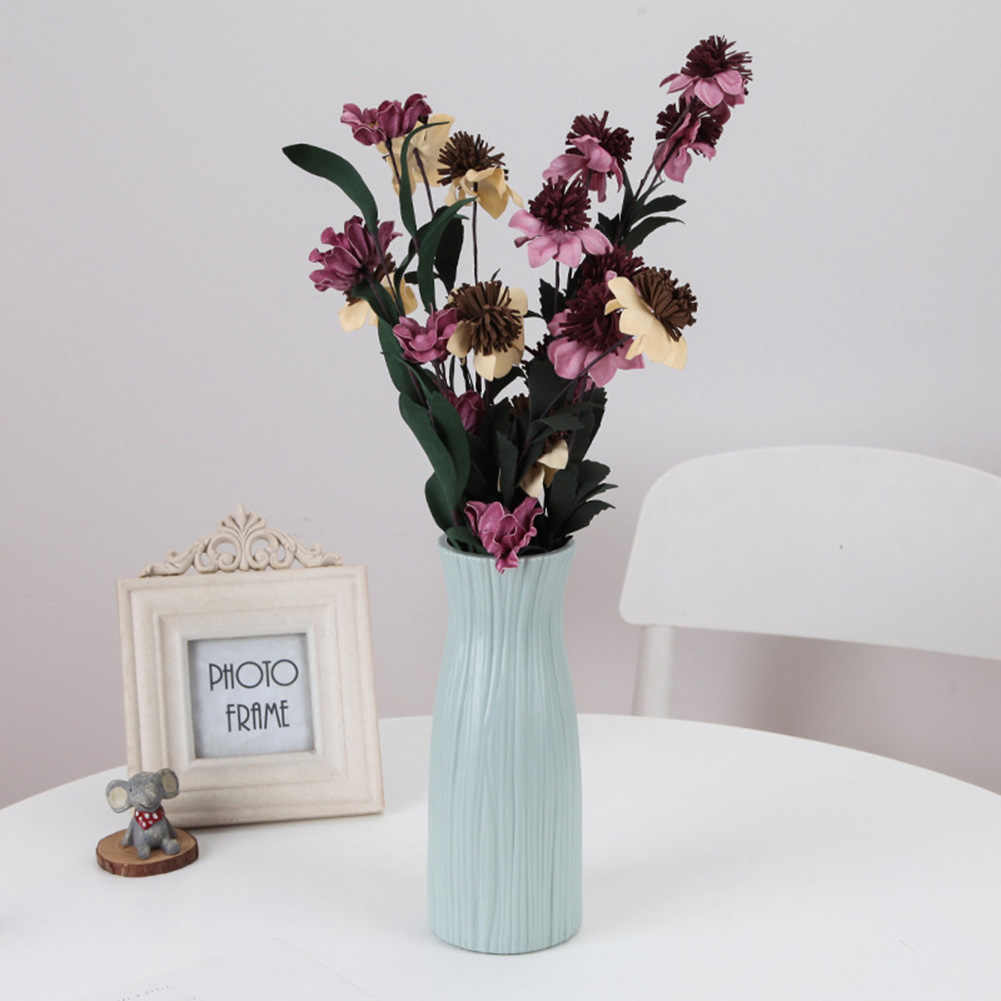 اناء للزهور مقاوم للكسر من البلاستيك زهرية حديثة لغرفة الدراسة المدخل ديكور المنزل والزفاف زهرية للمنضدة