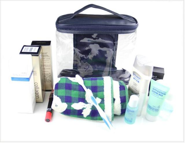 New Arrival Women Makeup Box Professional Portable Zipper Large Cosmetic Bag 3
