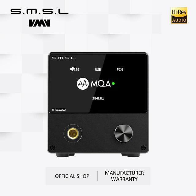 SMSL M500 wzmacniacz Audio i Audio XU 216 XMOS obsługuje układ MQA D/A ES9038PRO obsługuje DoP i natywny DSD 32bit/768kHz DSD512 czarny